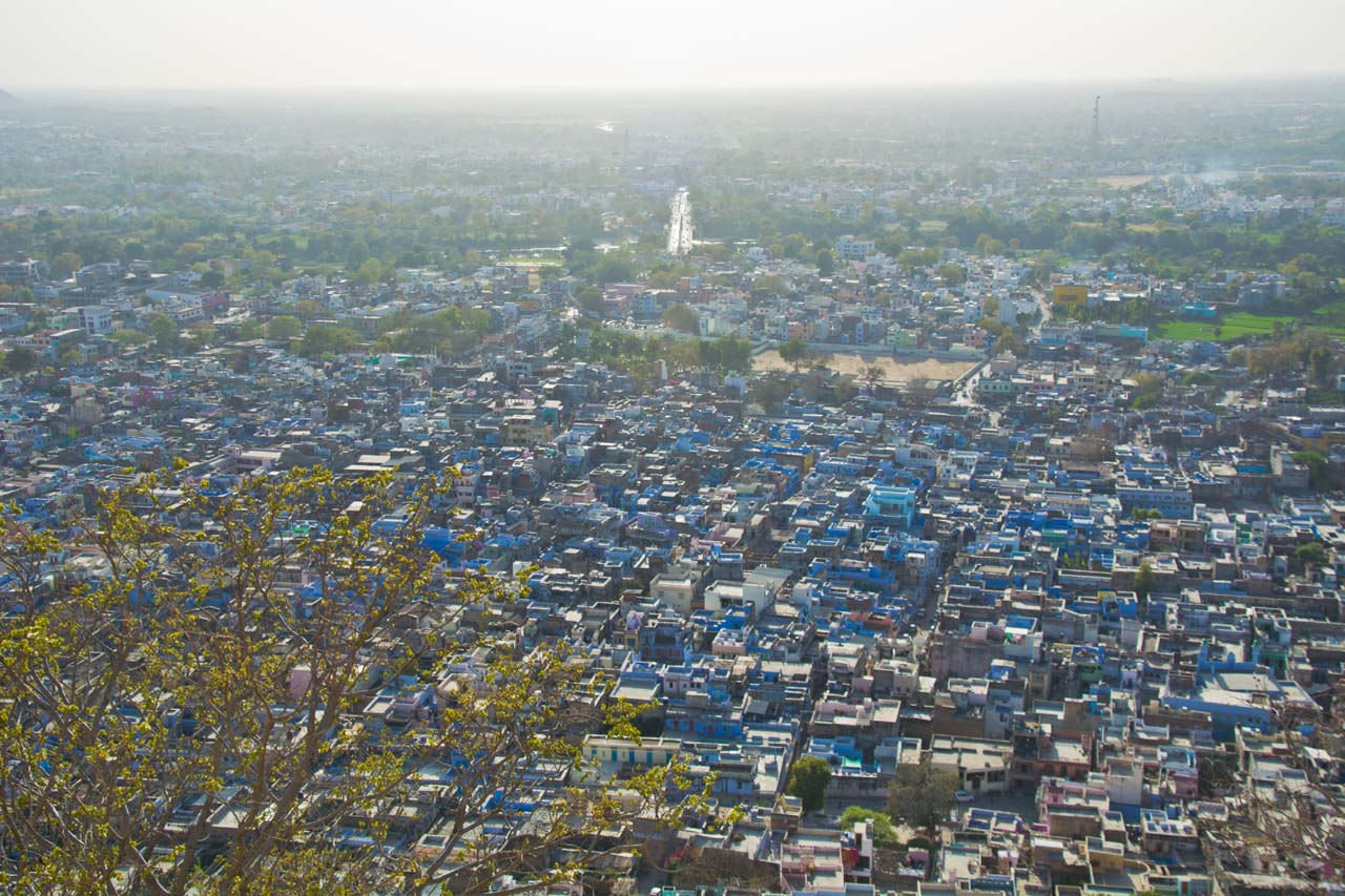 City from Chittorgarh fort