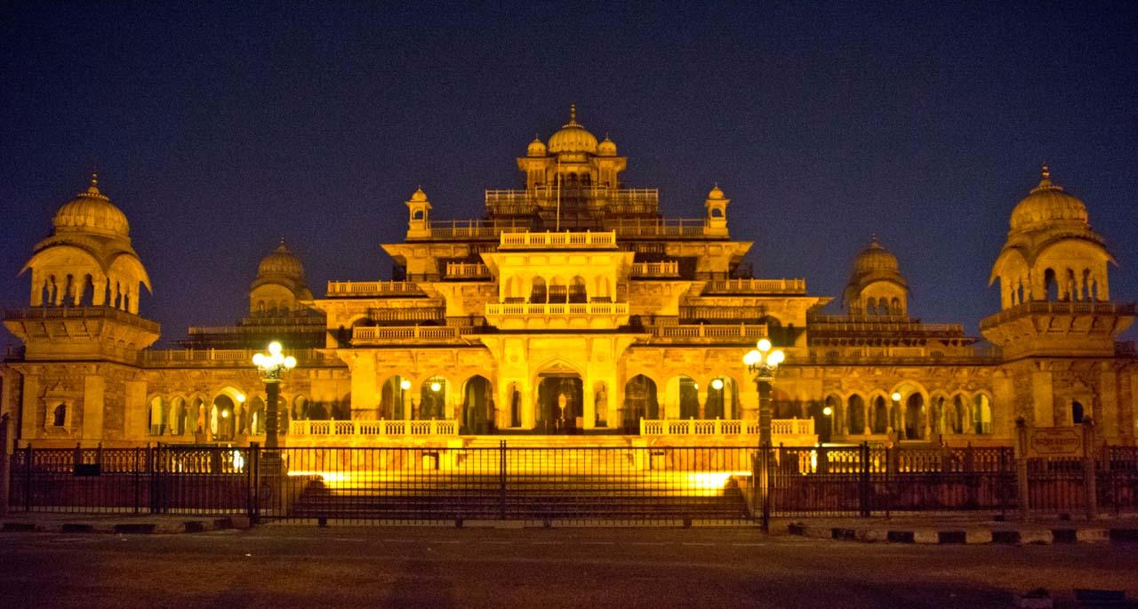 Jaipur by night Albert Hall