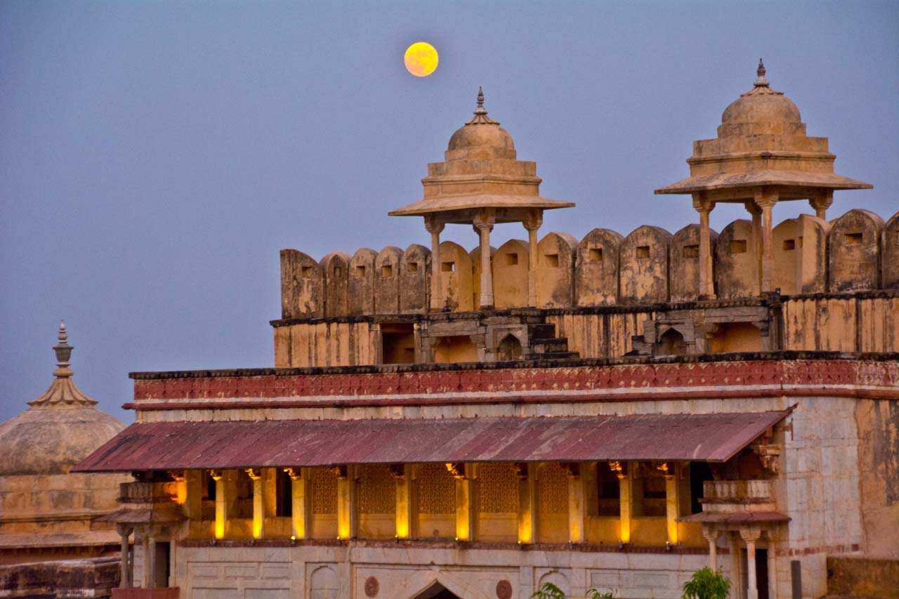 Jaipur by night Amber Fort