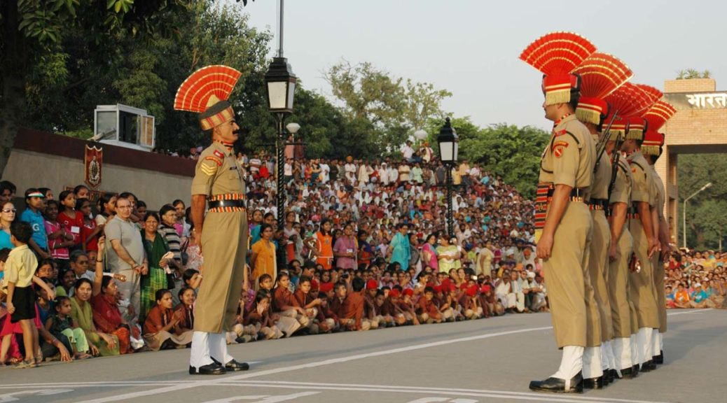Attari and Wagah Border Flag Lowering Ceremony