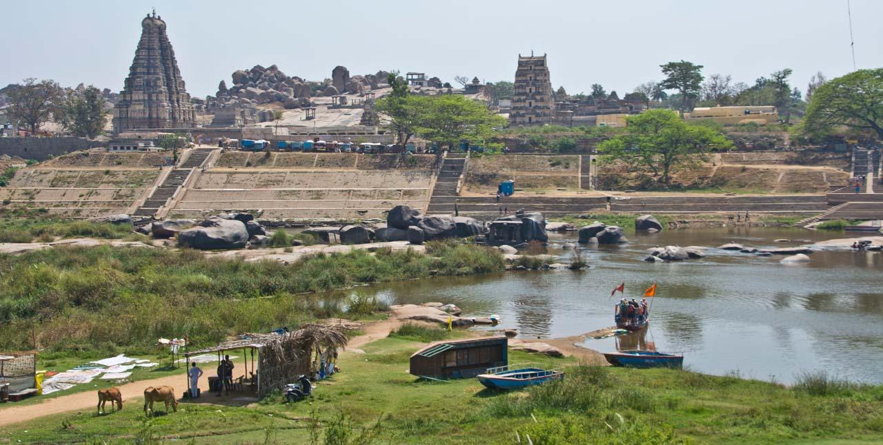 Across the river hampi village