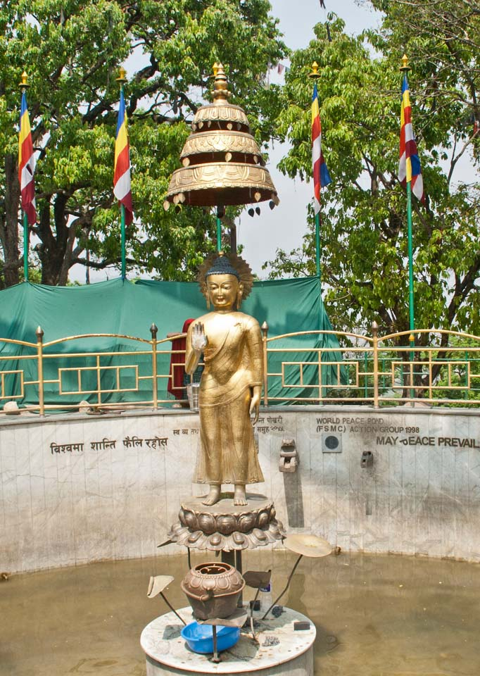 Buddha of Peace at Swyambhunath Temple stairs