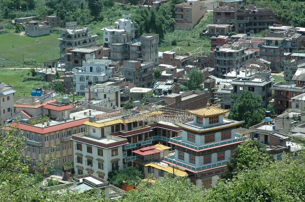 View from Swyambhunath Temple Kathmandu Nepal