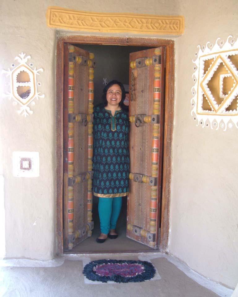 Hut gate Shaam-e-Sarhad Village Resort Kutch Gujarat