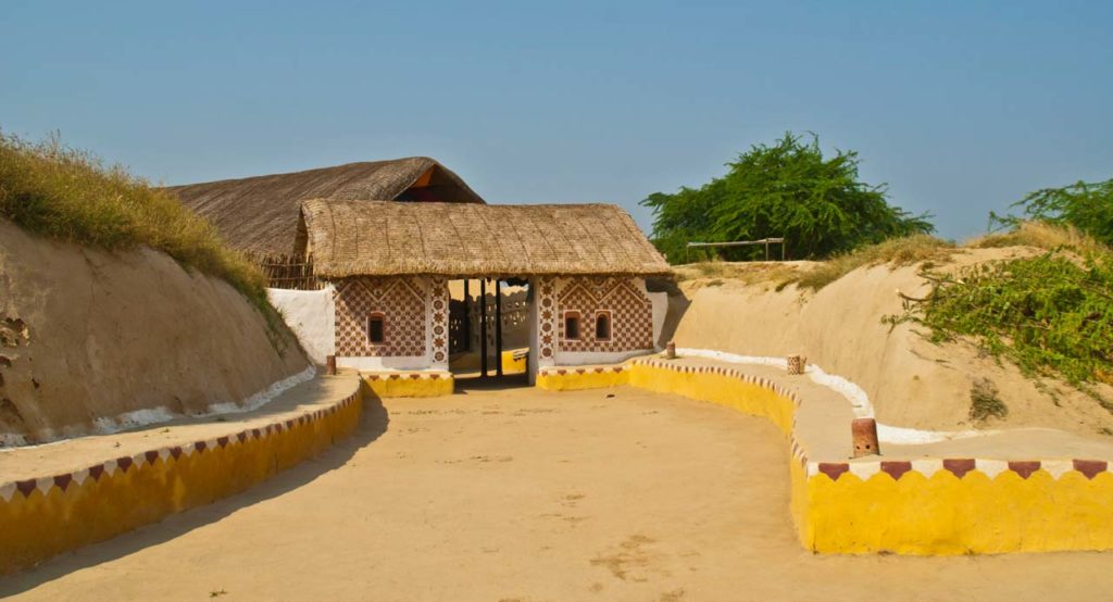 Main Gate Shaam-e-Sarhad Village Resort Kutch Gujarat