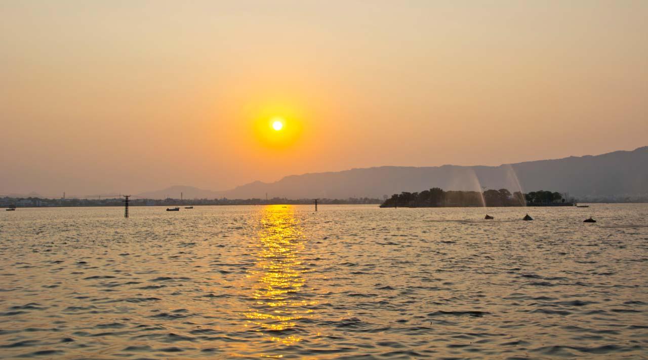 Anasagar Lake sunset