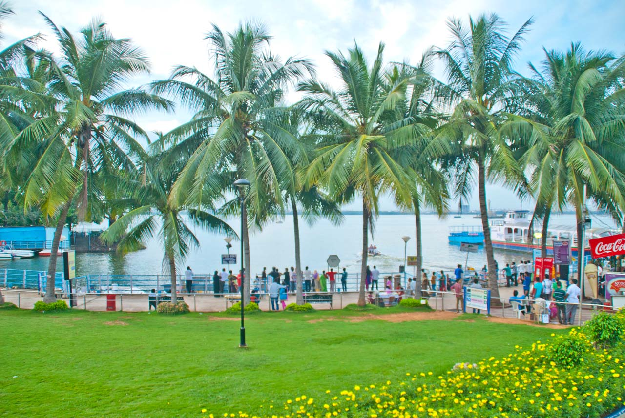 Things to do in Hyderabad India Lumbini park Hussain sagar boating point