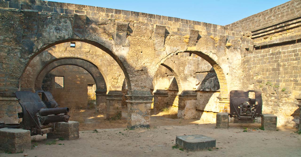 Inside Canons in Diu Fort