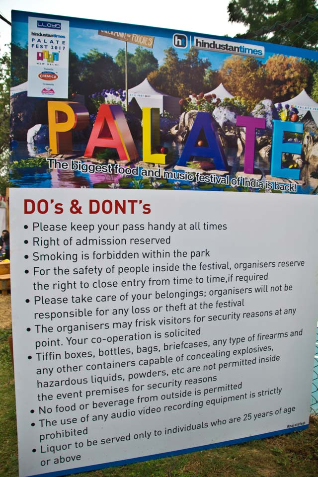 Palate fest do and don't