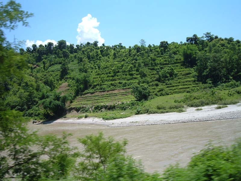 View on the way to Pokhara Nepal