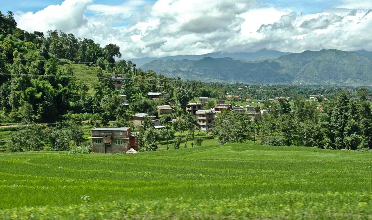 Nagarkot nepal hills on the way to Kathmandu