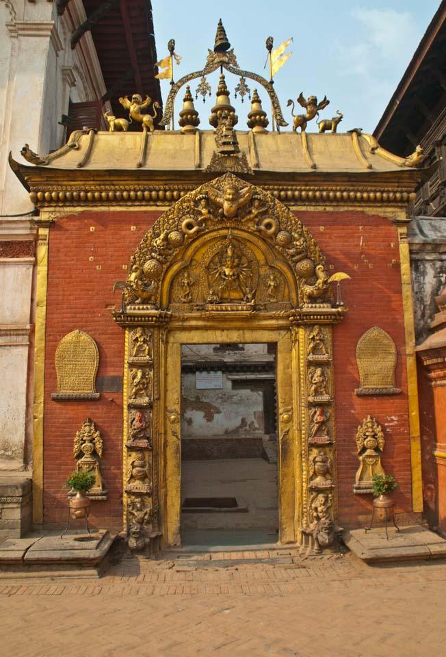 Bhaktapur Durbar Square temple gate