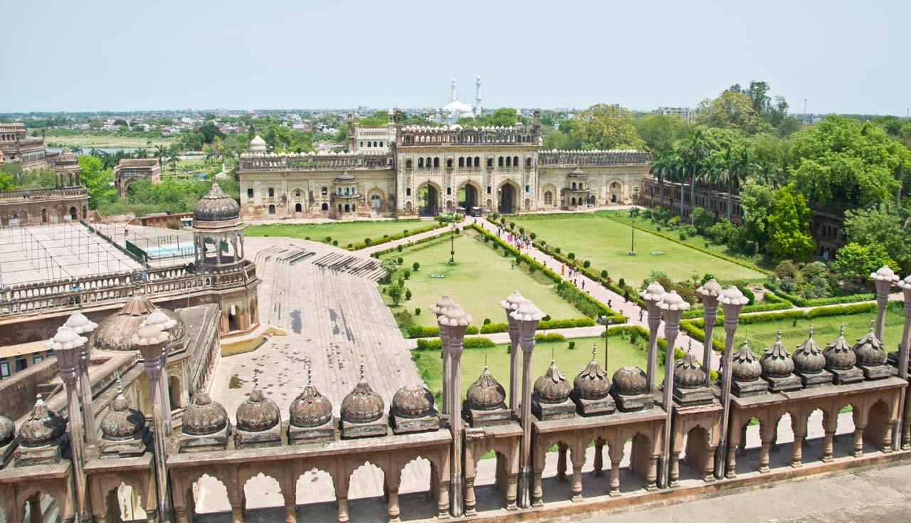 View from Bara Imambara roof
