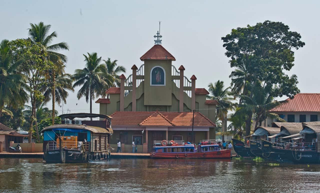 Church in Kerala Backwaters