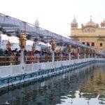 The Golden Temple Amritsar causeway to Sanctum