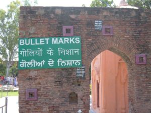 Jallianwala Bagh massacre memorial bullet mark