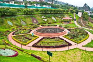 Landsacpe of Rose garden Ooty