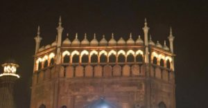 Jama Masjid at night