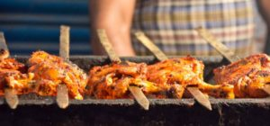 Chicken roasting