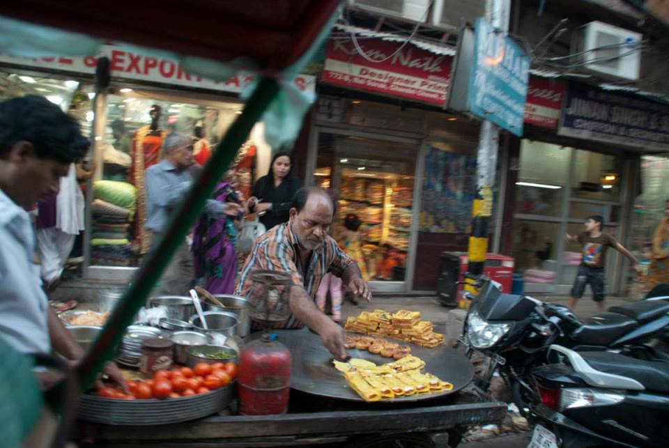 Chilla at street food stall