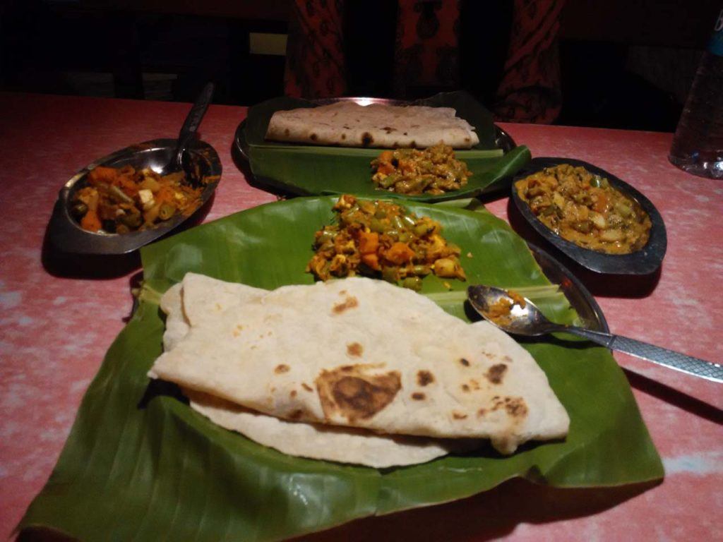 Food at Mango tree Hampi Village