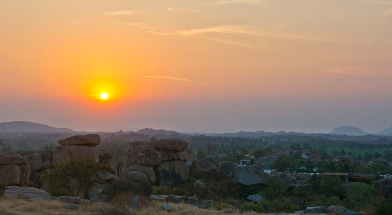 sunset hampi village