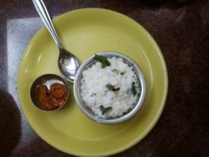 Curd Rice on the way from cochin to Guruvayur