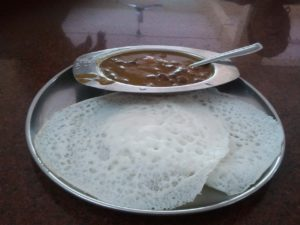 Kadla curry and appam in Guruvayur