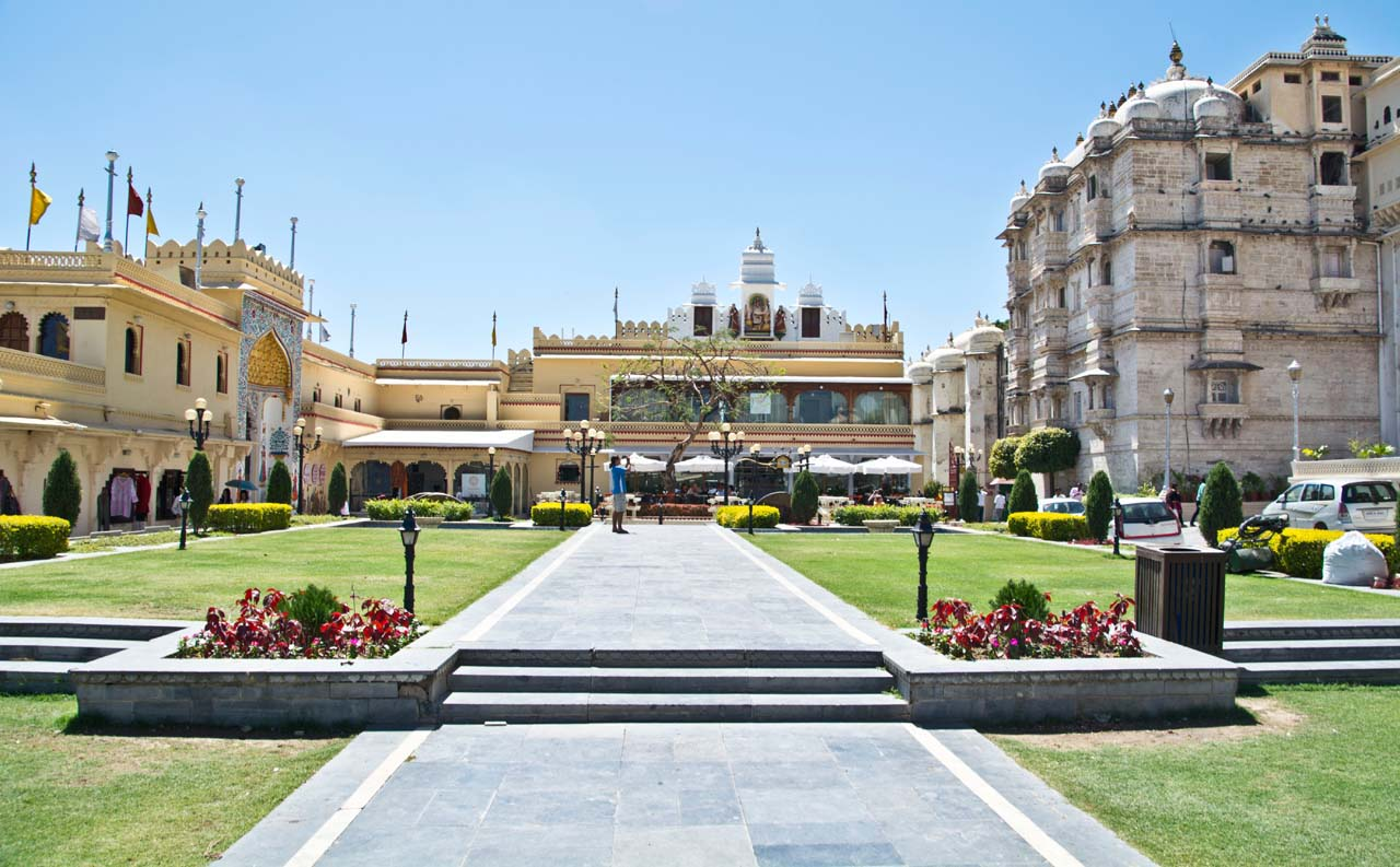 City palace compound in Udaipur
