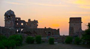Chittorgarh fort sunset