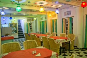 Dinning area in Udaipur Hotel