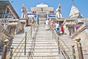 Jagdish temple stairs in Udaipur