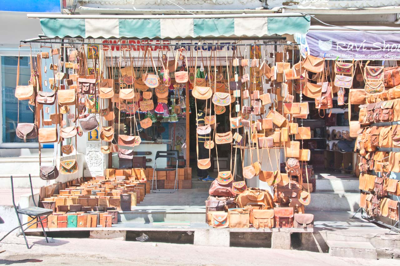 Leather shop Udaipur