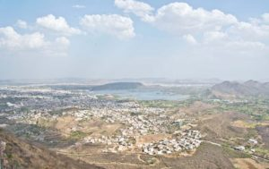 View from Monsoon palace Udaipur
