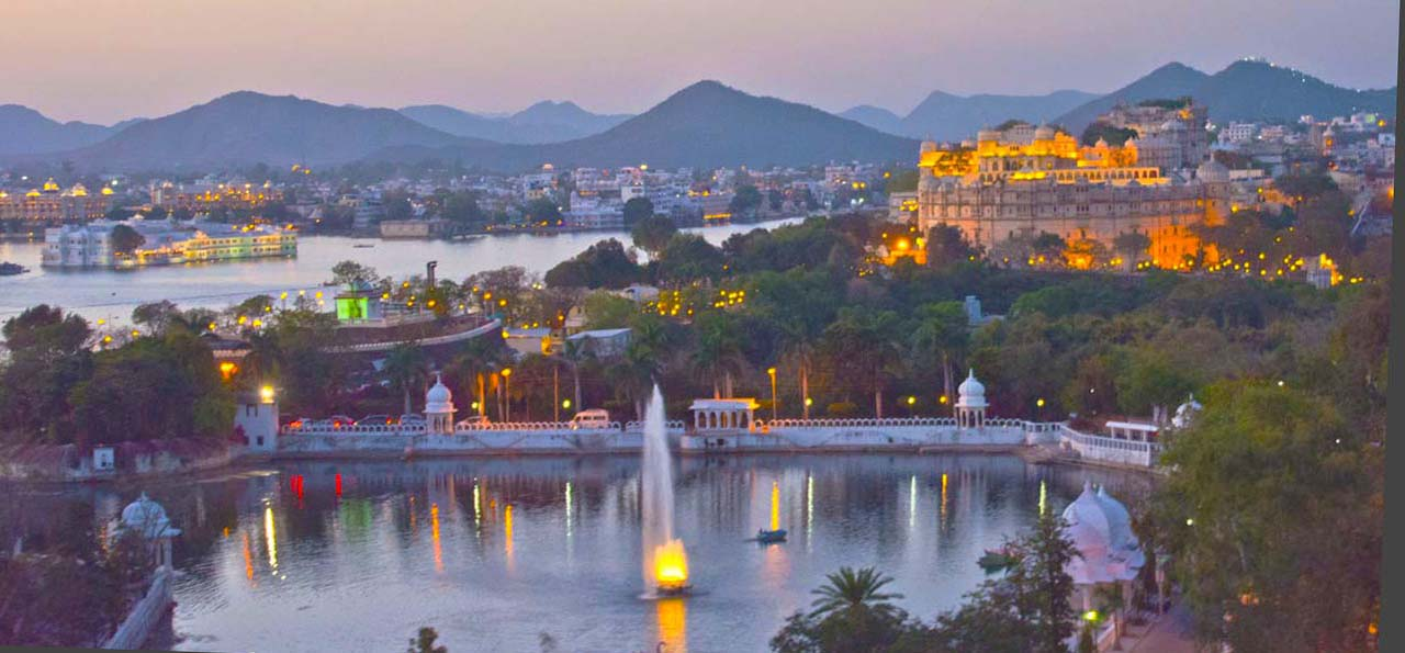 overview of Udaipur at Night