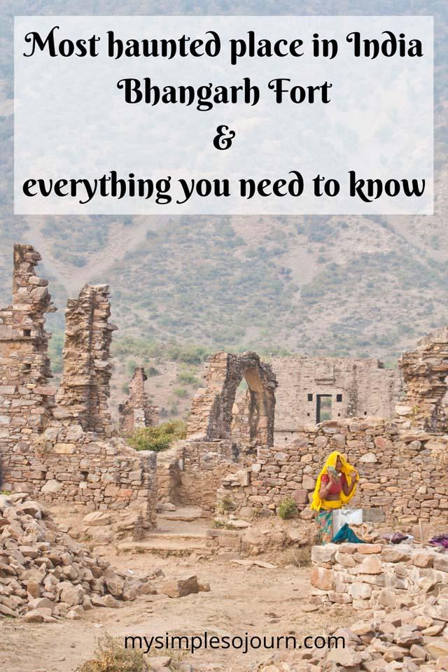 Bhangarh Fort's ghost stories and my experience #travel #rajasthan #bhangarhfort #hauntedfort