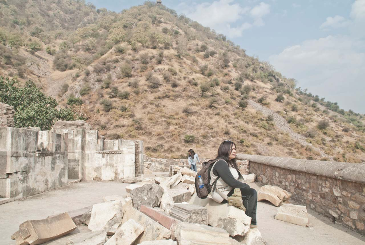 I at Bhangarh fort top