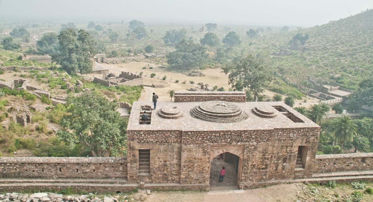 View from Bhangarh fort top