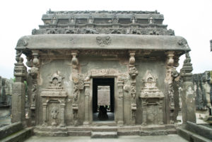 Ellora cave temple on first floor