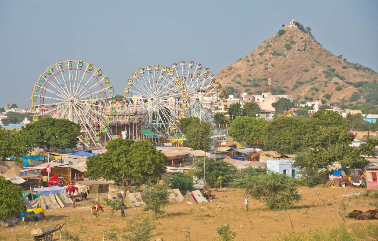 Pushkar camel Fair ground_2