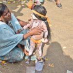 Pushkar camel fair kid with makeup
