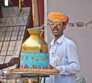 Pushkar camel fair market tea