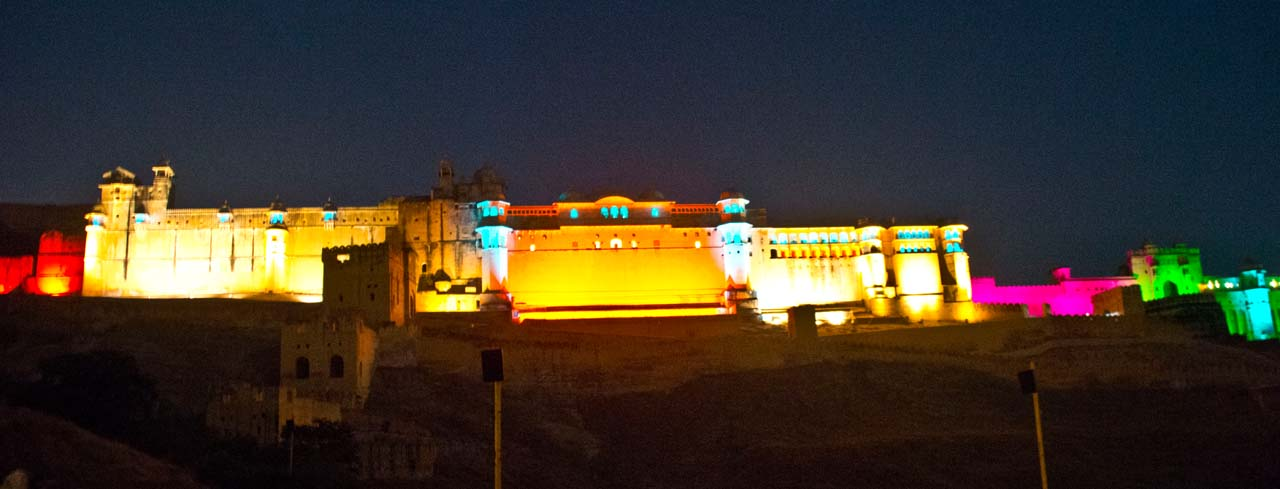 Jaipur by night Amer light and sound show