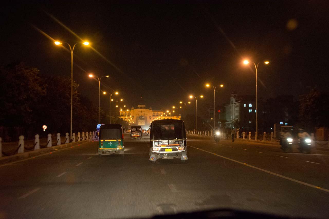 Jaipur roads at night
