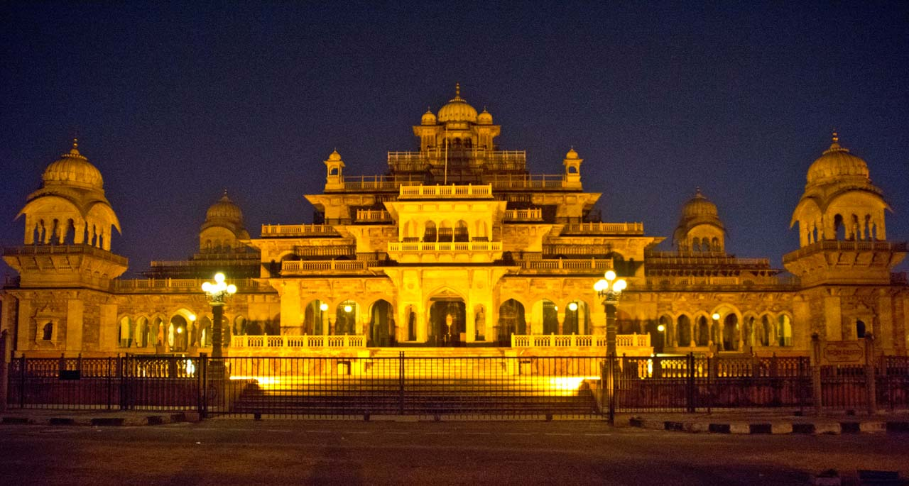 Albert Hall Jaipur at Night