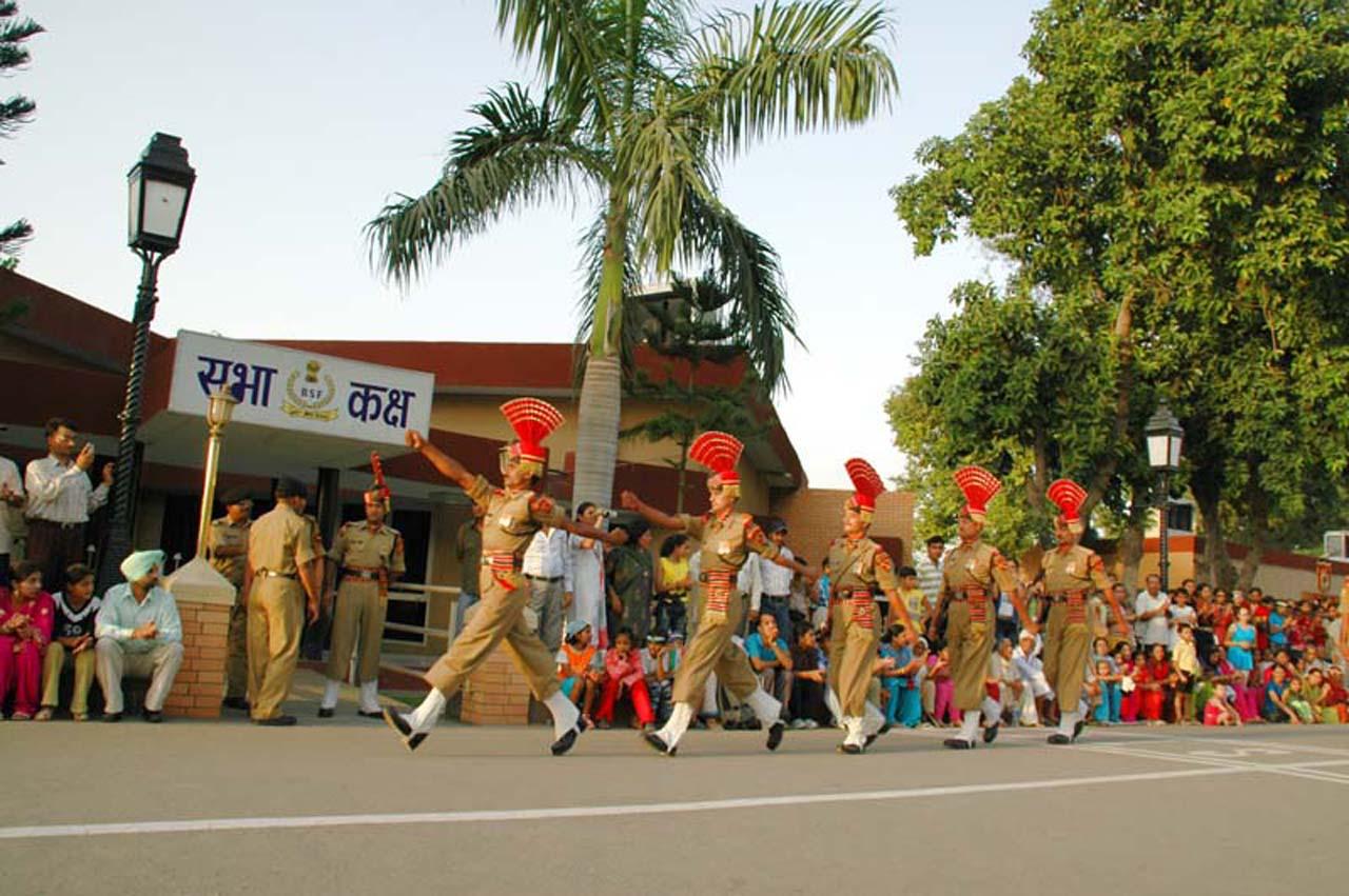 BSF Guards parade at Attari wagah border