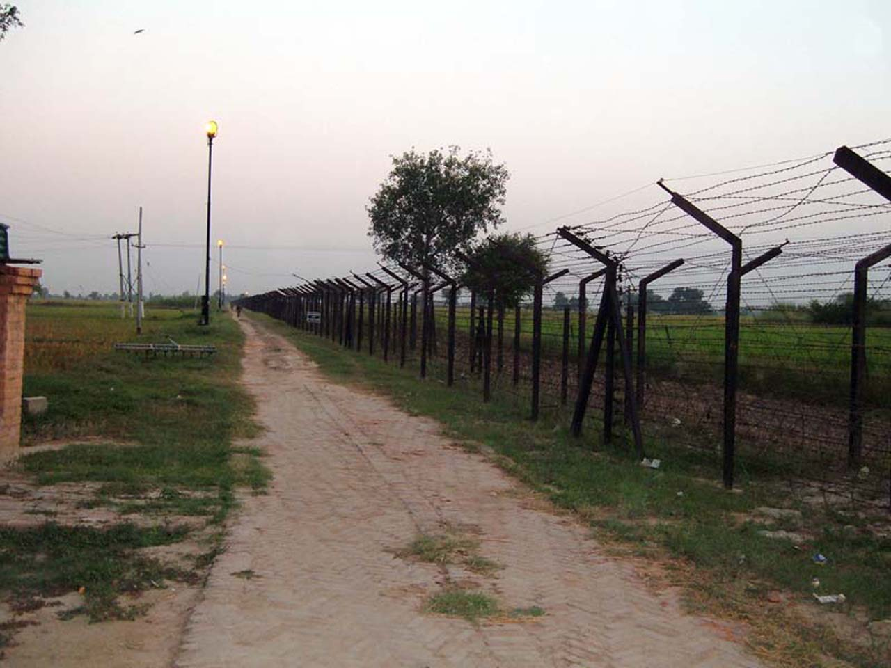 Border fencing at Attari Border post