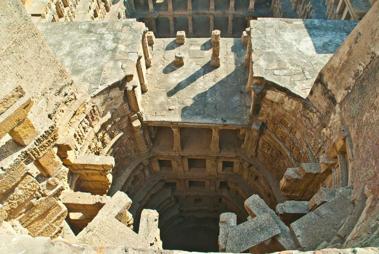 Rani ki Vav from wall's top