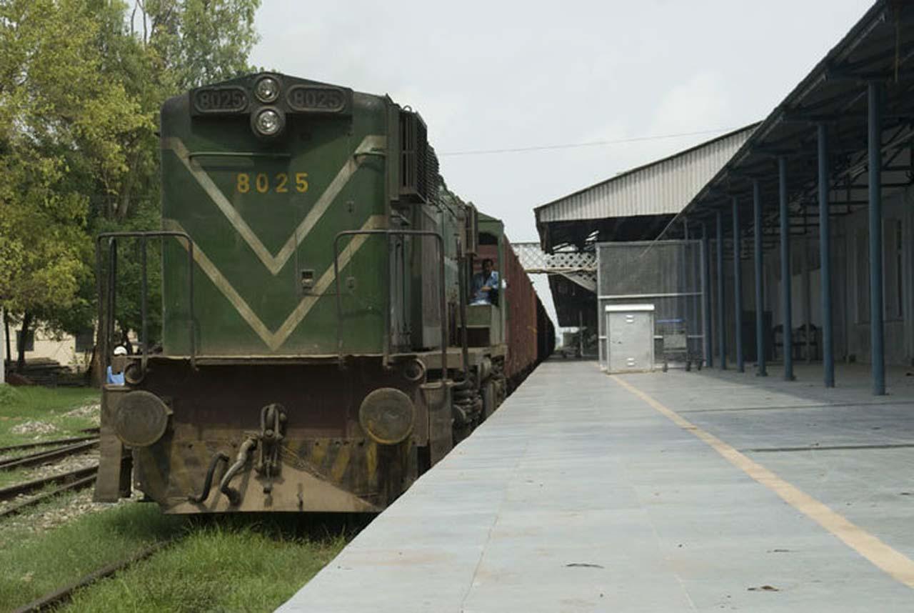 Goods train at Attari railway station Amritsar