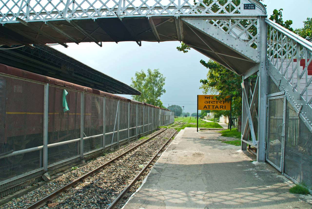 Platform Attari railway station Amritsar